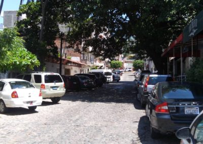 Just beside of the parota in Pulpito street